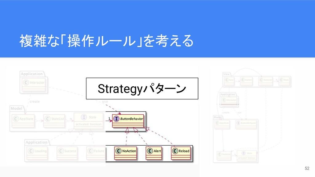 複雑な「操作ルール」を考える 52 Strategyパターン