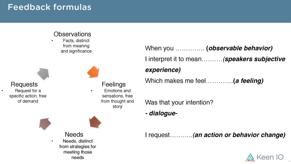 Feedback formulas When you ………….. (observable b...
