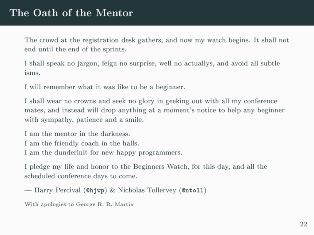 The Oath of the Mentor The crowd at the registr...