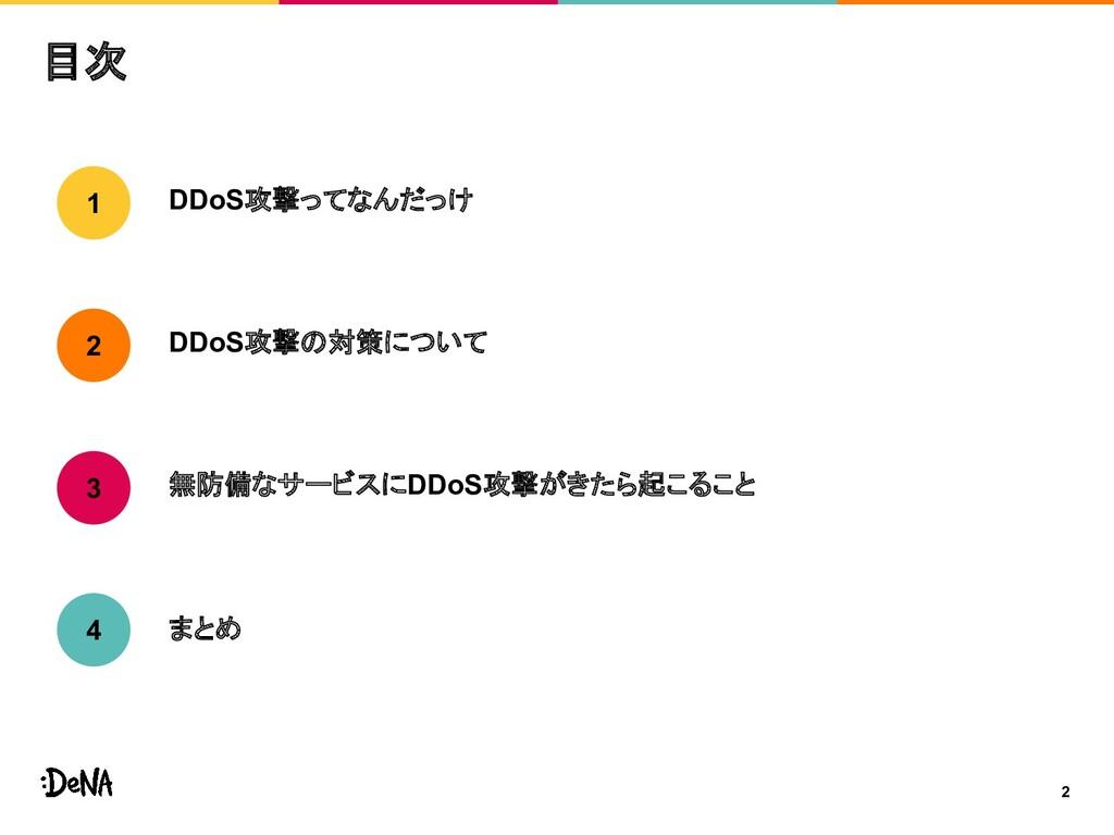 目次 DDoS攻撃ってなんだっけ DDoS攻撃の対策について 無防備なサービスにDDoS攻撃が...