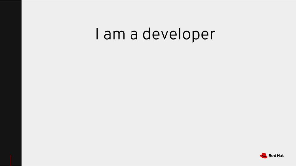 I am a developer