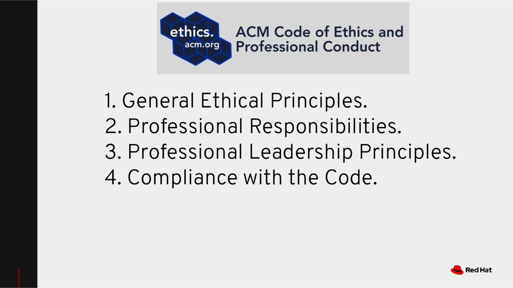1. General Ethical Principles. 2. Professional ...