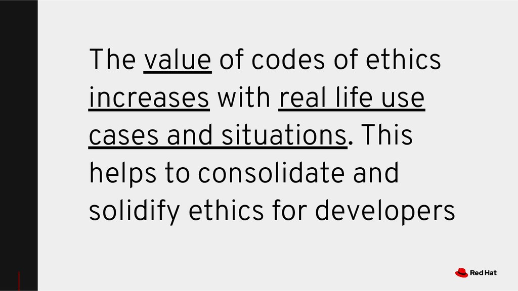 The value of codes of ethics increases with rea...
