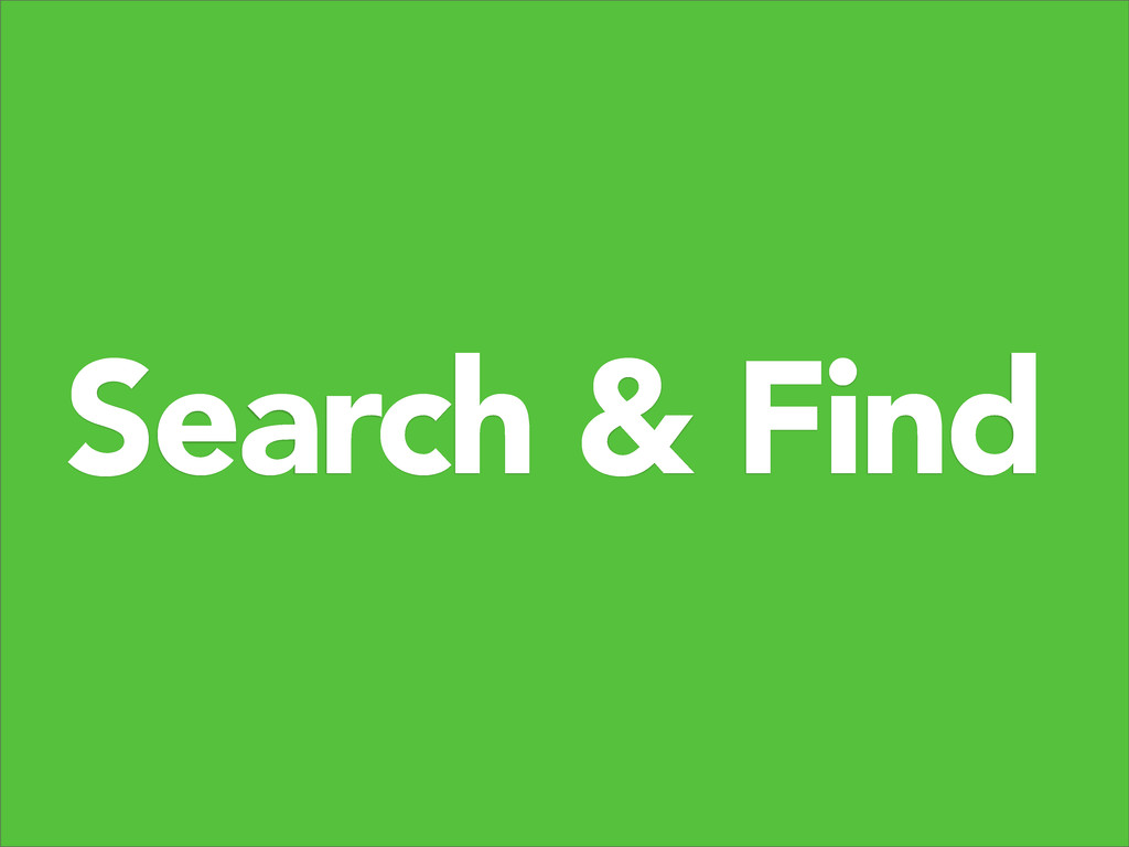 Search & Find