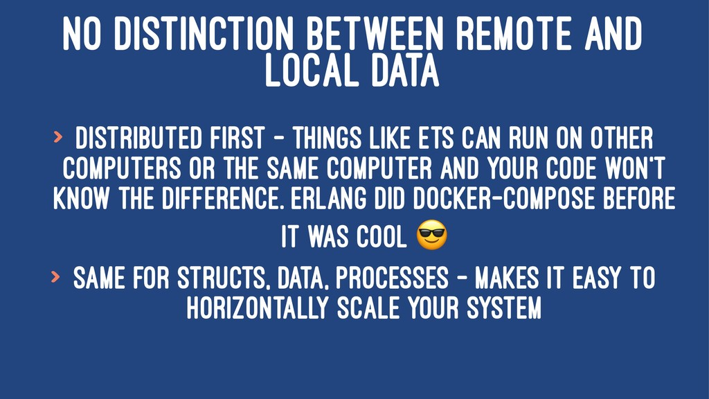 NO DISTINCTION BETWEEN REMOTE AND LOCAL DATA > ...