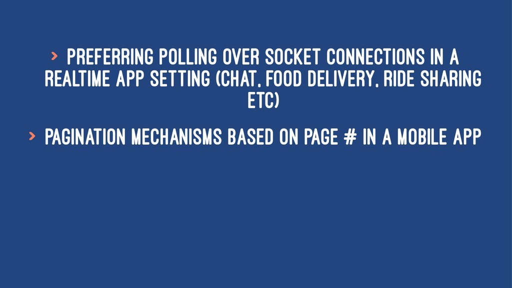 > Preferring polling over socket connections in...