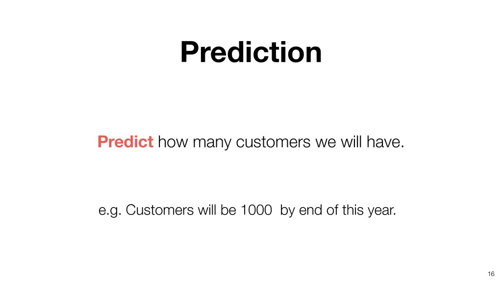 16 Predict how many customers we will have. Pre...