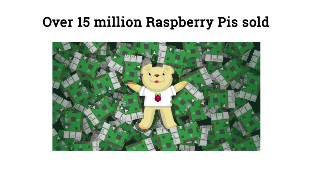 Over 15 million Raspberry Pis sold