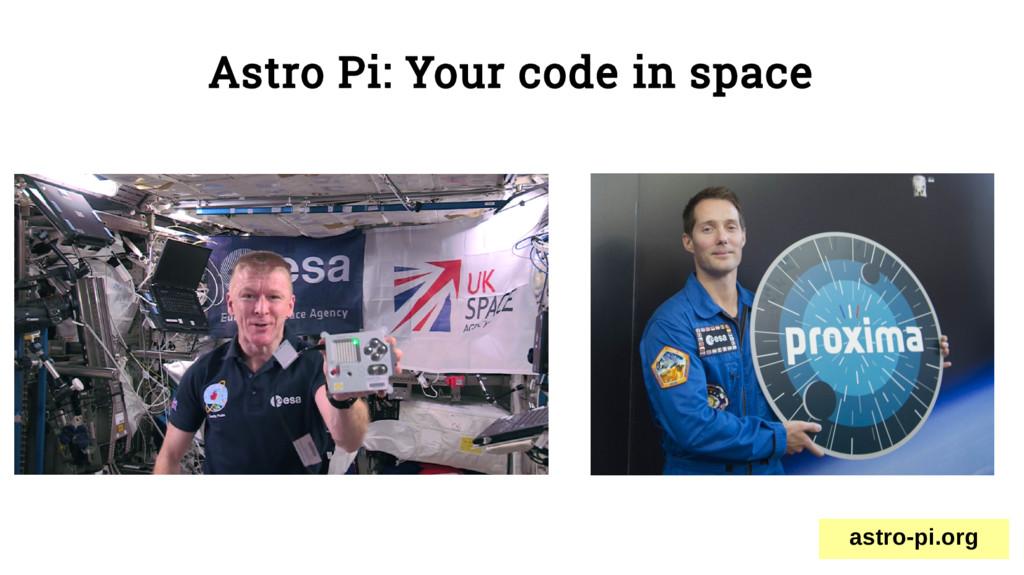 Astro Pi: Your code in space astro-pi.org