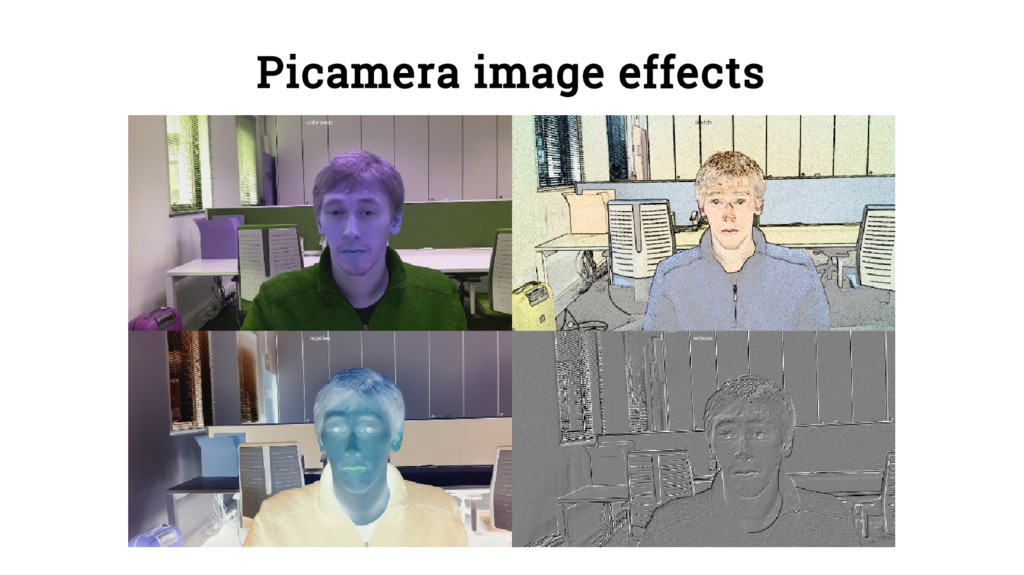 Picamera image effects