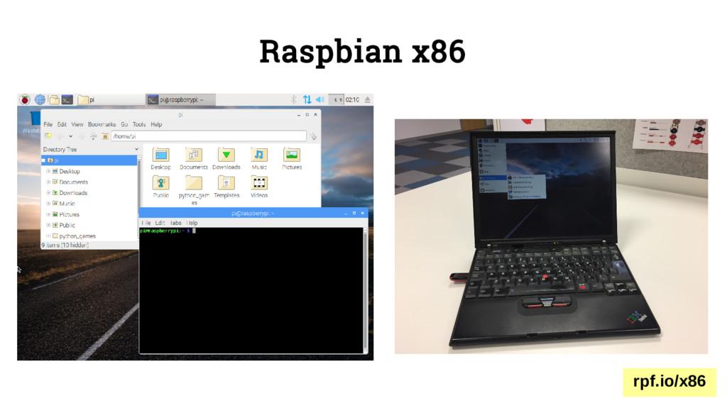Raspbian x86 rpf.io/x86