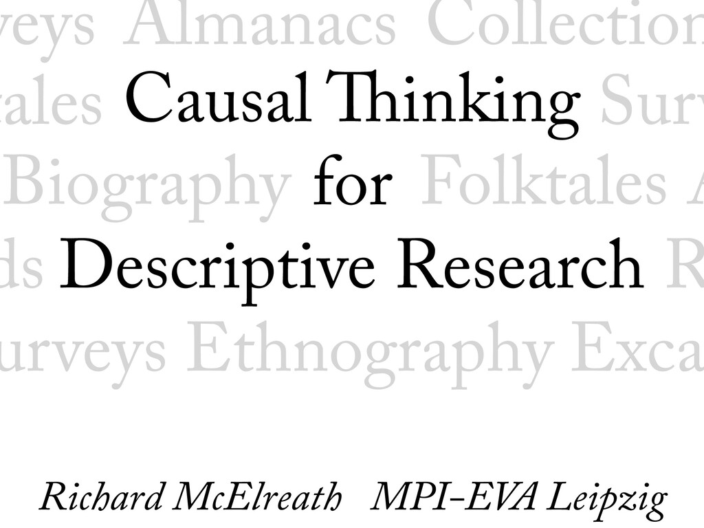 Causal Thinking for Descriptive Research Biog...