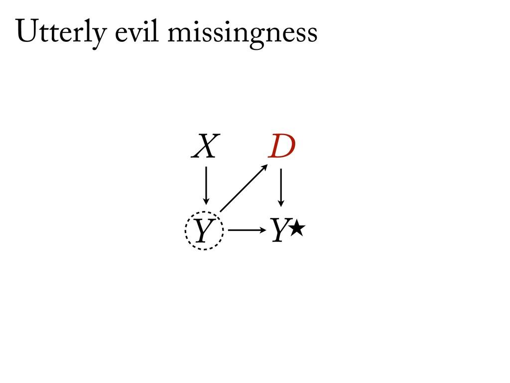 Ỵ X D Y Utterly evil missingness
