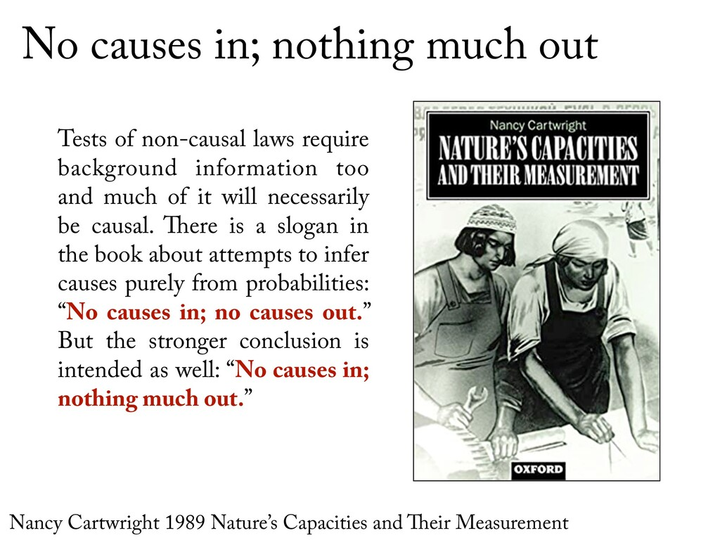 No causes in; nothing much out Tests of non-cau...