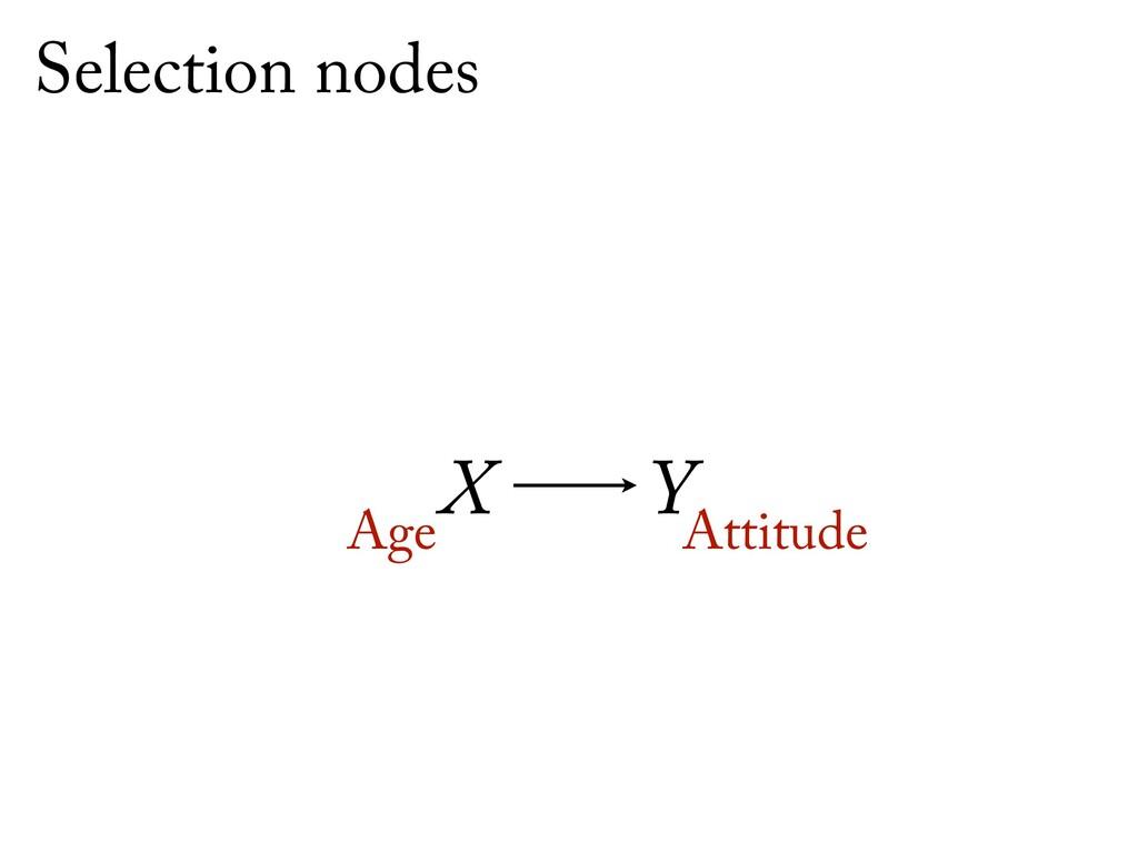 X Y Age Attitude Selection nodes