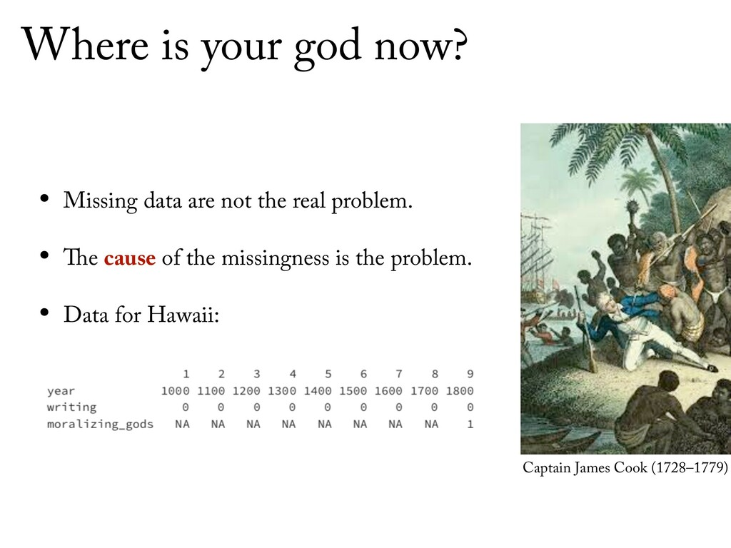 Where is your god now? • Missing data are not t...