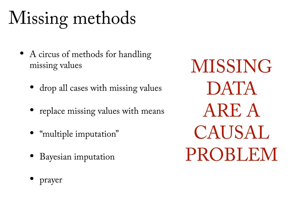 Missing methods • A circus of methods for handl...