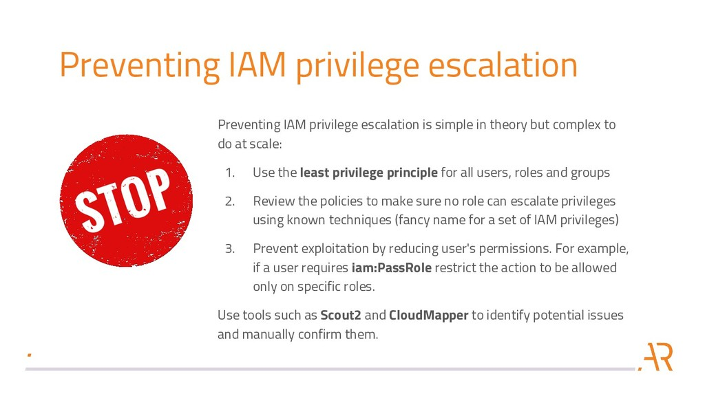 Preventing IAM privilege escalation Preventing ...
