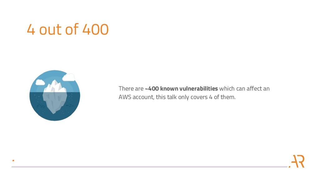 4 out of 400 There are ~400 known vulnerabiliti...