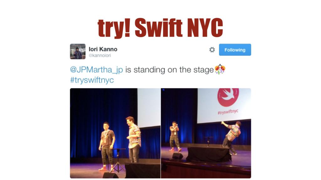 try! Swift NYC