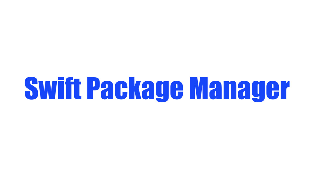 Swift Package Manager