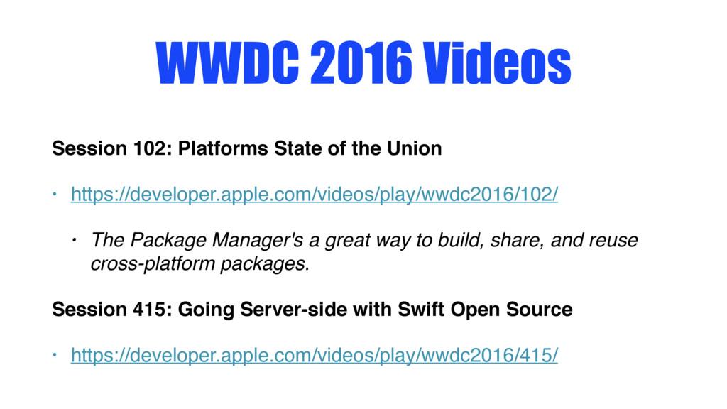 WWDC 2016 Videos Session 102: Platforms State o...