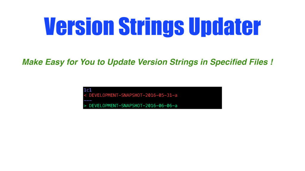 Version Strings Updater Make Easy for You to Up...