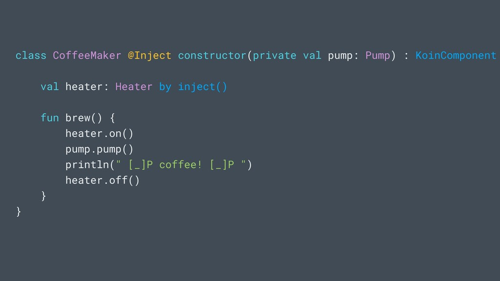 class CoffeeMaker @Inject constructor(private v...