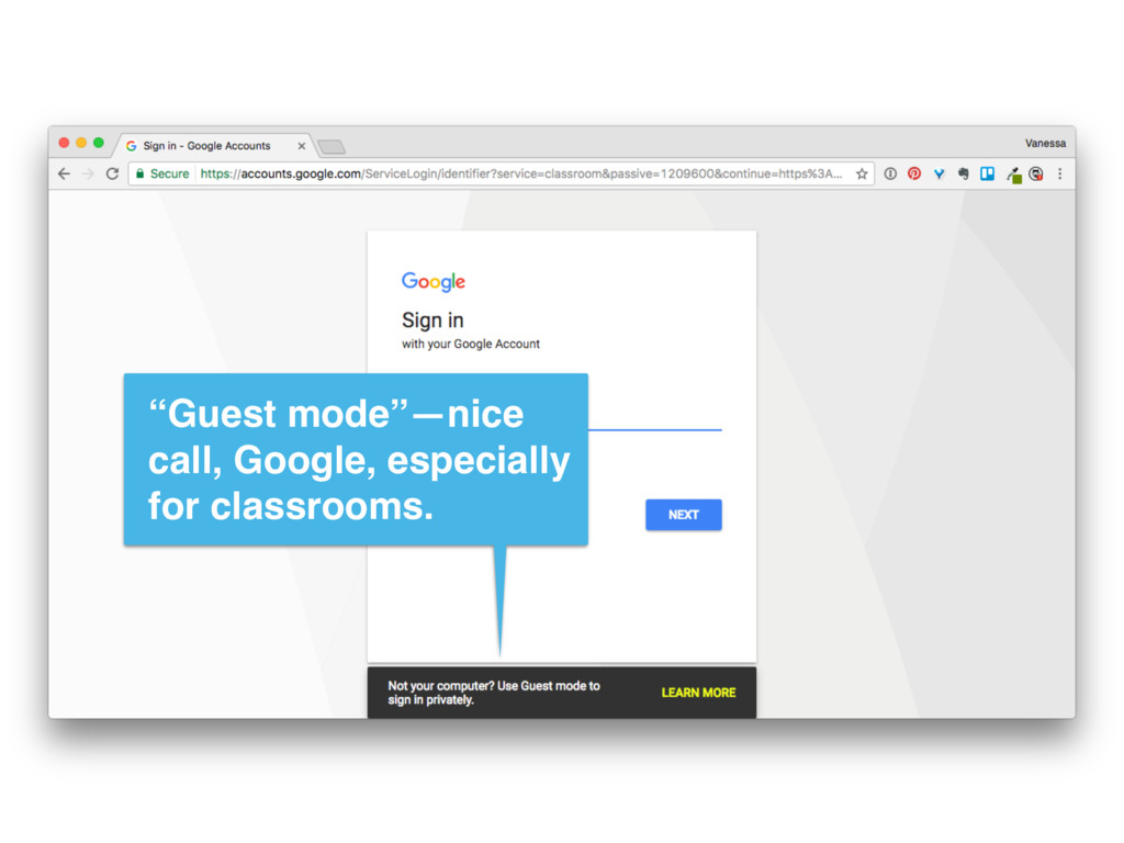 """""""Guest mode""""—nice call, Google, especially for ..."""