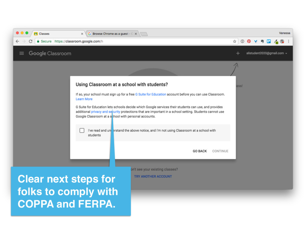 Clear next steps for folks to comply with COPPA...