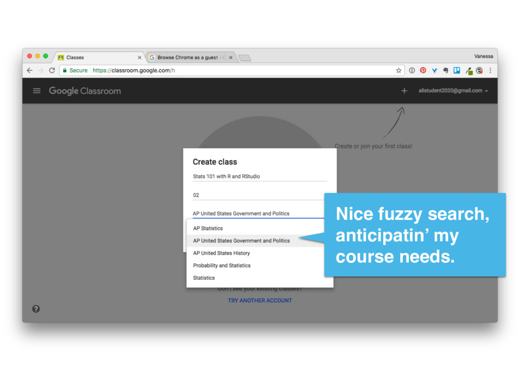 Nice fuzzy search, anticipatin' my course needs.