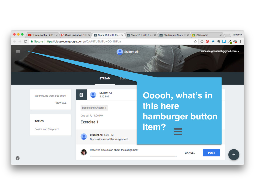 Ooooh, what's in this here hamburger button ite...