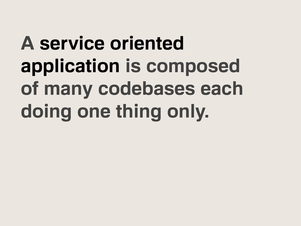 A service oriented application is composed of m...