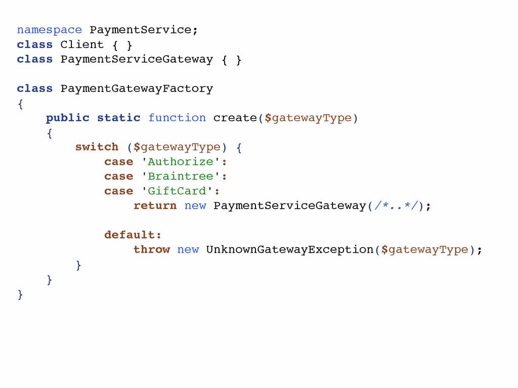 namespace PaymentService; class Client { } clas...