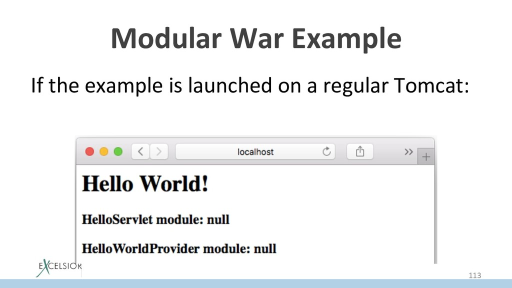 Modular War Example If the example is launched ...