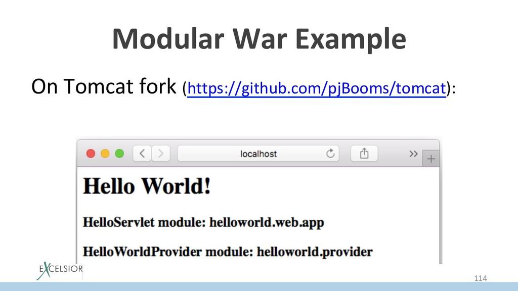 Modular War Example On Tomcat fork (https://git...