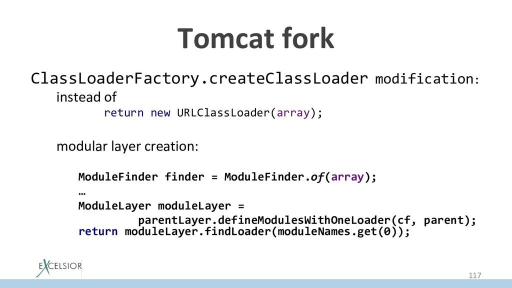 Tomcat fork ClassLoaderFactory.createClassLoade...