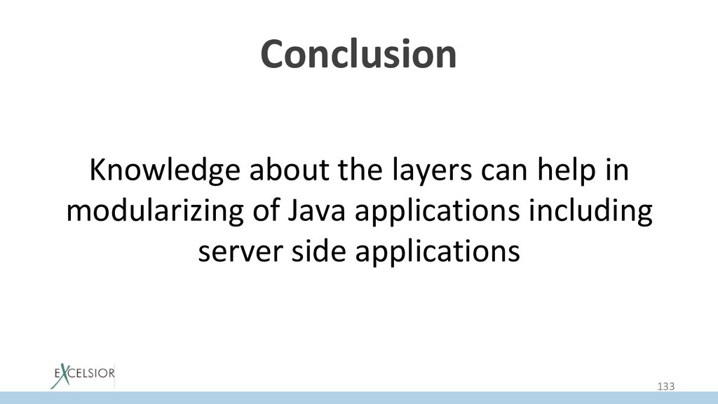 Conclusion Knowledge about the layers can help ...