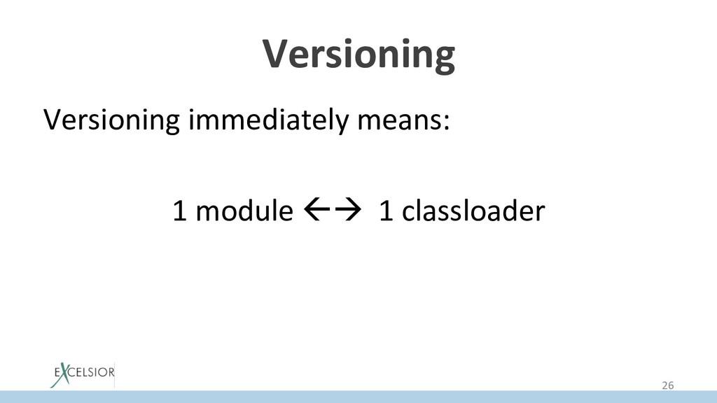 Versioning Versioning immediately means: 1 modu...