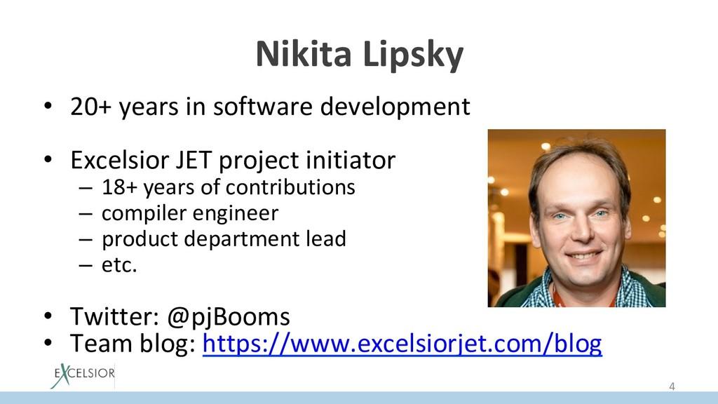 Nikita Lipsky • 20+ years in software developm...