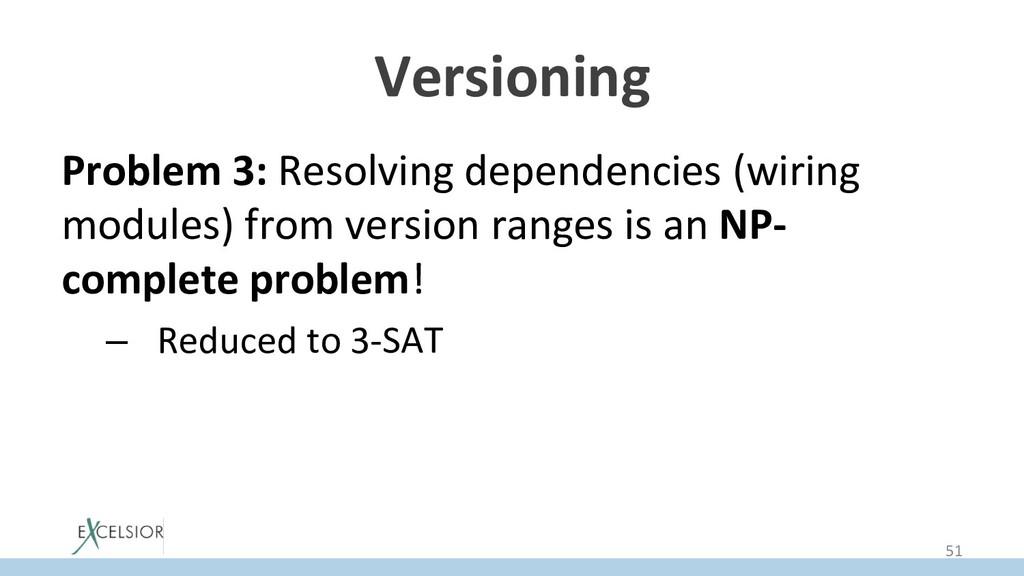Versioning Problem 3: Resolving dependencies (w...