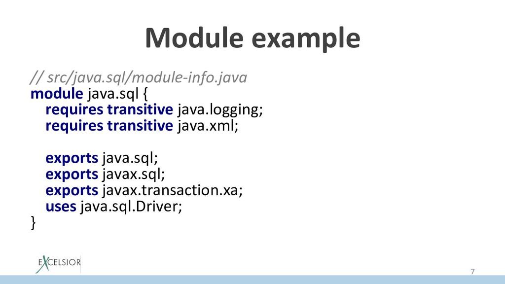 Module example // src/java.sql/module-info.java...