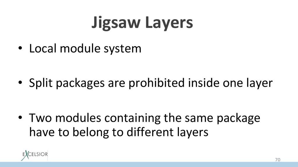 Jigsaw Layers * • Local module system • Split...