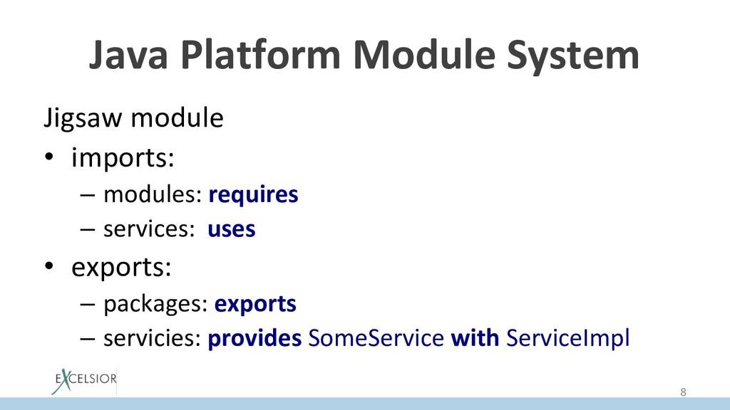 Java Platform Module System Jigsaw module • im...