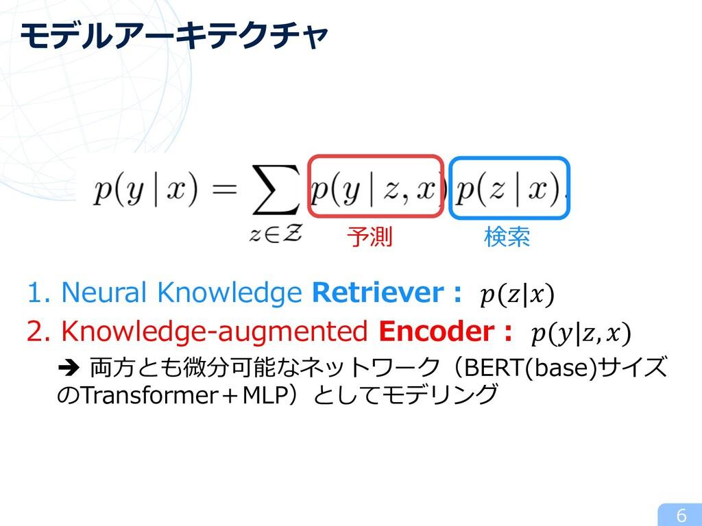 1. Neural Knowledge Retriever︓ (|) 2. Knowledge...