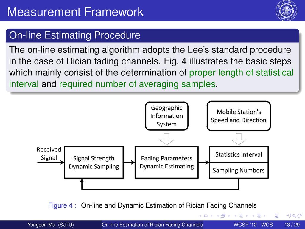 Measurement Framework On-line Estimating Proced...