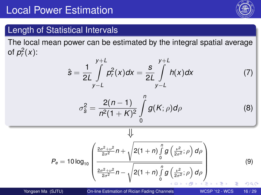 Local Power Estimation Length of Statistical In...