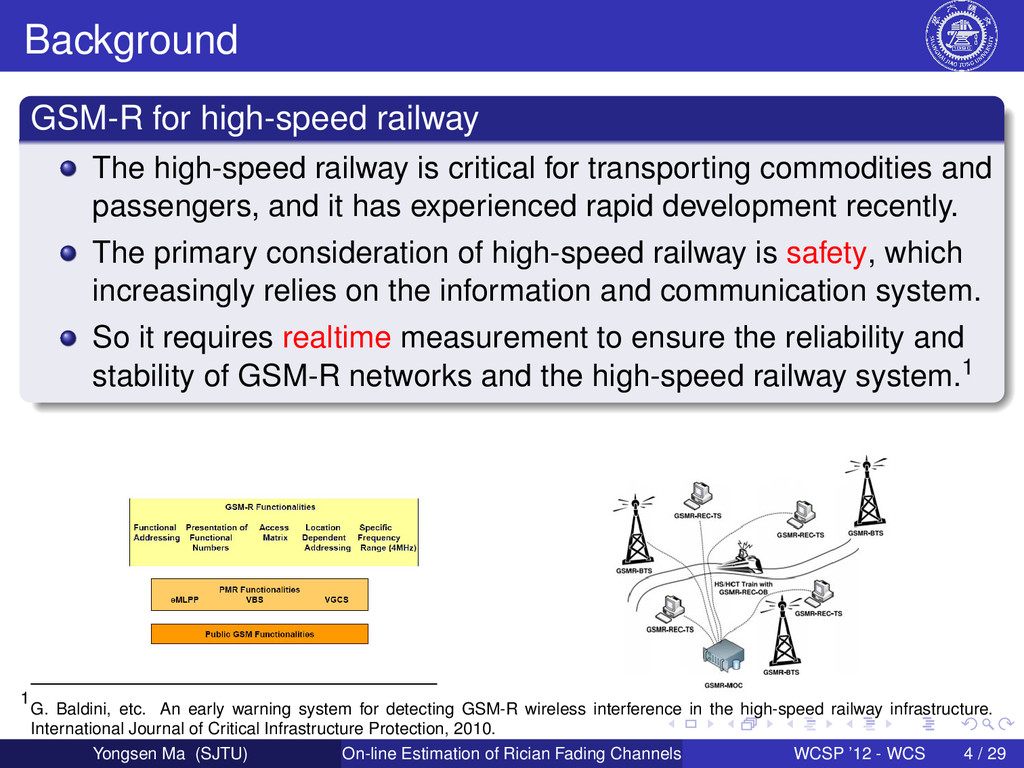 Background GSM-R for high-speed railway The hig...