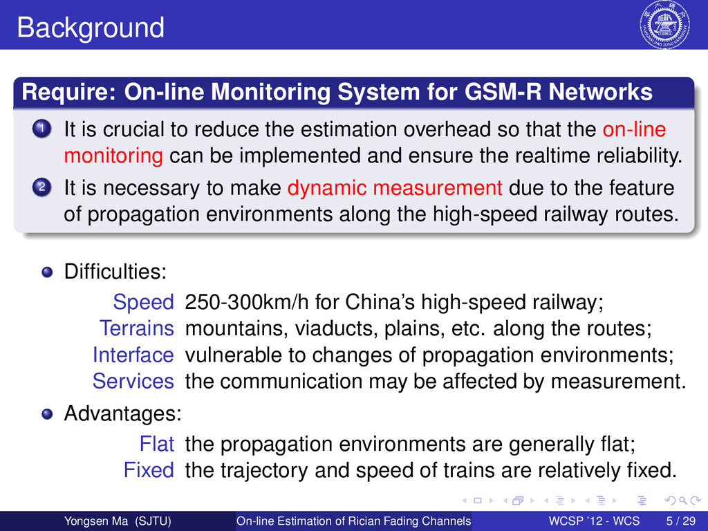 Background Require: On-line Monitoring System f...