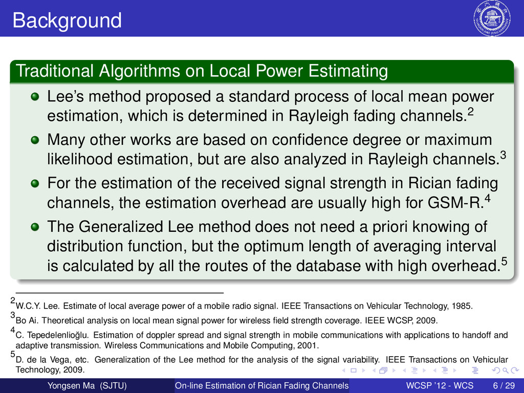Background Traditional Algorithms on Local Powe...